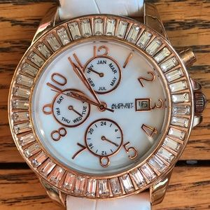 August Steiner Mother of Pearl Rose Gold Watch